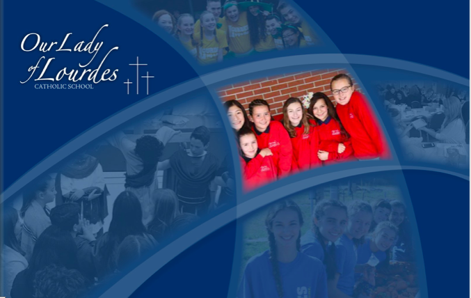 Our Lady of Lourdes Catholic School Graphic