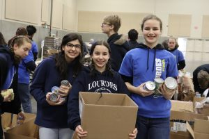 Our Lady of Lourdes Catholic School Student Service Day Food