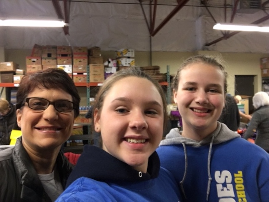 Our Lady of Lourdes Catholic School Student Service Day Selfie